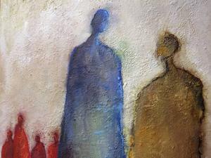 Måleri av Agneta Morelli, detalj.