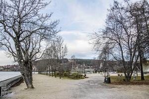 Badhusparken är en härlig plats året runt. Mats Hemå skulle vilja att fiket var öppet även under det mörka halvåret och helst längre på kvällarna.
