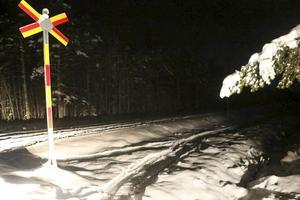 Olyckan skedde för två veckor sedan när en skoter parkerades på banvallen och blev påkörd av tåget utanför Älvros.