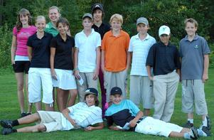 Unga golfare. Det gick bra för de deltagande lagen från Gagnefs golfklubb när de spelade i Skandia scramble i Söderhamn. Foto:Gagnefs GK