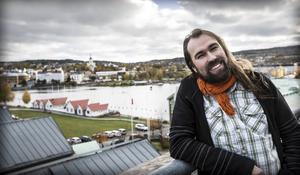 Tomas Frejarö, ordförande i Härnösandshus, har många idéer för det framtida bostadsbyggandet.