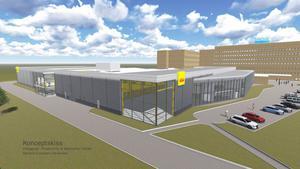 Så här ska det se ut när den nya anläggningen färdig under hösten 2014. – Med den här investeringen ser vi vilket förtroende Sandviks styrelse har för Coromant och det här handlar om att bygga vidare på något viktigt, säger Klas Forsström.
