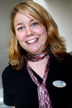 –Vi tror att vi får 190 UF-företag i Medelpad i år, säger Maria Lidgren, Ung Företagsamhet.