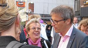 Sigmatorget fylldes av intresserade västeråsare när Göran Hägglund (KD) var på besök.