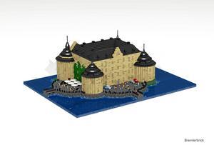 Förhandstitt. Så här ser modellen av slottet ut. Ritningen görs först i datorn innan själva byggandet börjar.