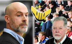VIK-tränaren Christer Olsson till vänster, Sport Västmanlands Bernt Jangendahl till höger.