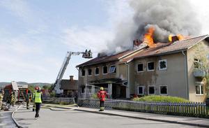 Ett planerat HVB-hem för ensamkommande flyktingbarn i Insjön totalförstördes i en brand på Nationaldagen, den 6 juni.