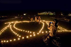 Ljusfest i Sveaparken 2015. Fotograf: Peter Gustavsson
