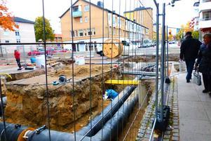 Sandvikens gågator byggs om i samband med projektet Plussa centrum.