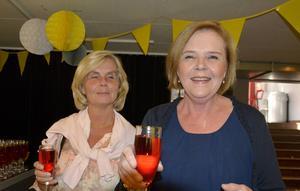 Carina Tysk och Monika Smott var inbjudna till galapremiären.