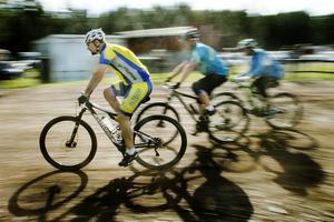 Det var rekordmånga som deltog i mountainbiketävlingen.