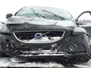 Två personbilar var inblandade i olyckan.