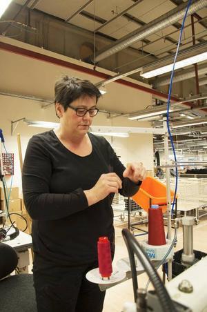 X Ann-Marie Lund började inom textilindustrin redan 1969.