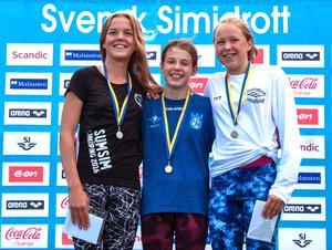 Elsa Bergh (t.v) tog Söderhamns SS:s första SM-medalj på många år.