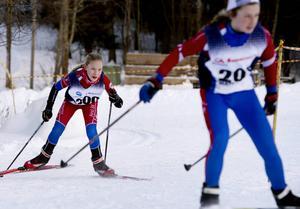 Amanda Pallin från Alnö SK fick se sig besegrad av Funäsdalens Alba Johansson i klassen D12.