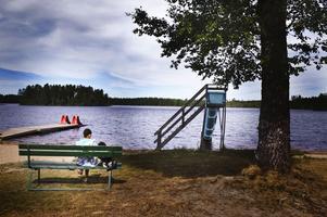 Stort intresse. Den här sandstranden ingår i Medskogssjöns campings konkursbo. Flera köpare har visat intresse för campingen och i nästa vecka hoppas konkursförvaltaren Bertil Wingqvist att han ska ha klart med en ny ägare.