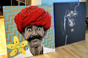 Förlagan till den turbanprydde mannen fanns i Indien.