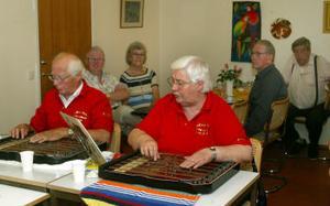 Britt-Inger Hemmingsson och Einar Norlander är båda med i Skönsmons cittragrupp. Gruppen spelar ofta och gärna på äldreboenden och servicehus.