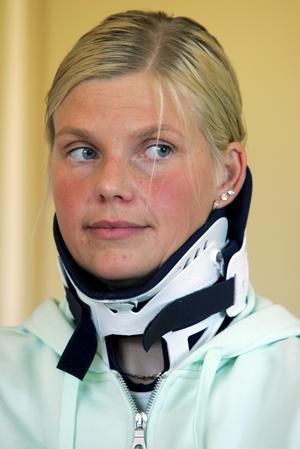 Louise Haaga efter olyckan.