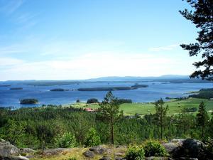 Utsikten från Avholmsberget är känd i hela Hälsingland.