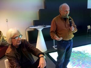 Volyms redaktör Jan K Persson och Mats de Vahl på seminariet i Umeå.