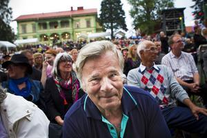 En och annan kändis skymtade i publiken, här Jan Guillou.