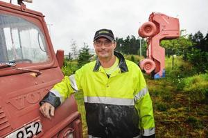 Rondellbilens dubbelgångare. Claes Pira hämtade den på en gård mellan Säffle och Åmål.