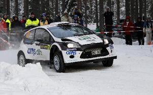 Hasse Gustafsson, Vansbro, fick ordning på bilen till slut och körde in på 22:a plats. foto: lars Ingvar Eriksson