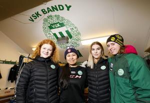 Bandy, VSK damer , från vänster Virva Rylander Emma Hansson Johanna Olsson  och Matihilda Eklund.