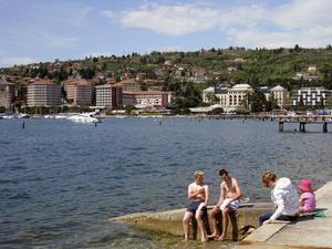 Bildtext 14: Badorten Portoroz på den slovenska rivieran är ett givet stopp för badsugna.   Foto: Annika Goldhammer