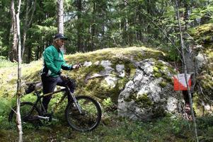 Björn Aspelin cyklade rätt på kontrollen med hjälp av GPS.