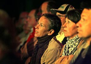 Förväntningarna var höga redan innan föreställningen. Marie Westberg och Camilla Nyström tittade storögt.