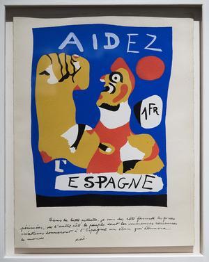 Med sina affischer nådde Miró ut brett.