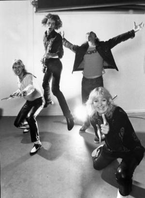 KLASSIKER. Popgruppen Attack med  Björn Uhr, Peter Jägerhult, Åke Eriksson och Rosa Körberg såsom de såg ut 1981.Foto: Pressens Bild