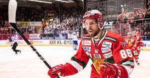 Mathias Bromé lämnar Dalarna efter tre säsonger i Mora, och ser fram emot att få spela inför en fullsatt Behrn arena i vinter. Bild: Daniel Eriksson/Bildbyrån