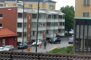 Olyckan inträffade i korsningen Hyttgatan-Stigaregatan i Falun.
