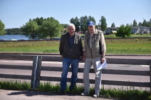 Arne Pettersson och Lennart Thorslund vill inte se att Saxviken blir ett område för köpcentrum.