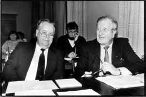 Georg Karlsson (S) och Börje Andersson (S) var Borlänges högsta S-politiker under sammanlagt 31 år, och hade aldrig några problem att bilda majoritetsstyren. Foto: Tomas Nyberg/Arkiv
