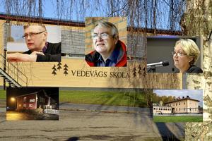Socialdemokraterna ska rösta för nedläggning av byskolor, Centern ska rösta emot. Oklart just nu hur Vänstern ska rösta. Men den nya majoriteten i Lindesbergs kommun är inte överens i denna fråga inför måndagens nämndmöte. På bilden Jonas Kleber (C), Ulf Axelsson (V) och Irja Gustavsson (S).