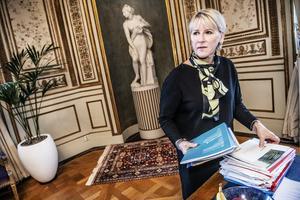 Margot Wallström borde ha suttit hela mandatperioden, men jag har full förståelse för hennes beslut, skriver insändarskribenten. Foto: TT