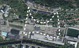 I det inringade området vid Universitetsallén planeras för drygt 700 bostäder.
