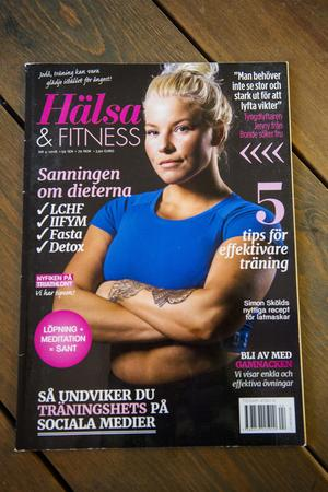 Jenny Svedberg Freéd på omslaget i tidningen Hälsa & Fitness.