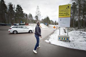 Lars Severin skickade med en ritning med rondellkonst och allt när han lämnade in medborgarförslaget.