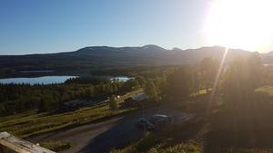 Sjön Äcklingen i Skäckerfjällen sett från Kolåsens fjällhotell. Bild: Micke Blyckert/Privat