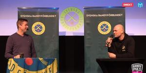 Konferencier Robert Tennisberg och Per Fosshaug.