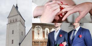 De flesta frikyrkor i Falun säger nej till samkönade äktenskap. Bild: Karin Sundin och Gorm Kallestad, TT.