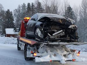 Trafikolycka mellan Hålland och Järpen.