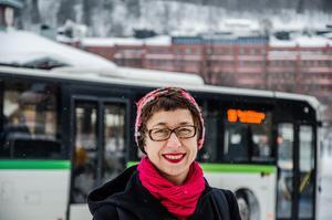 Johanna Thurdin, ordförande för MP:s lokalavdelning, kandiderar som förstanamn i kommunfullmäktige.