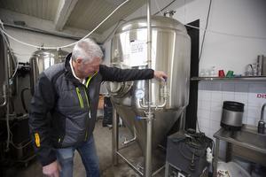 I just den här jästanken finns bryggeriets första lanserade sort Ipan Blonde.