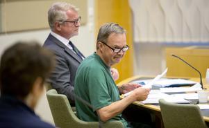 Karl Hedin under sin häktningsförhandling.